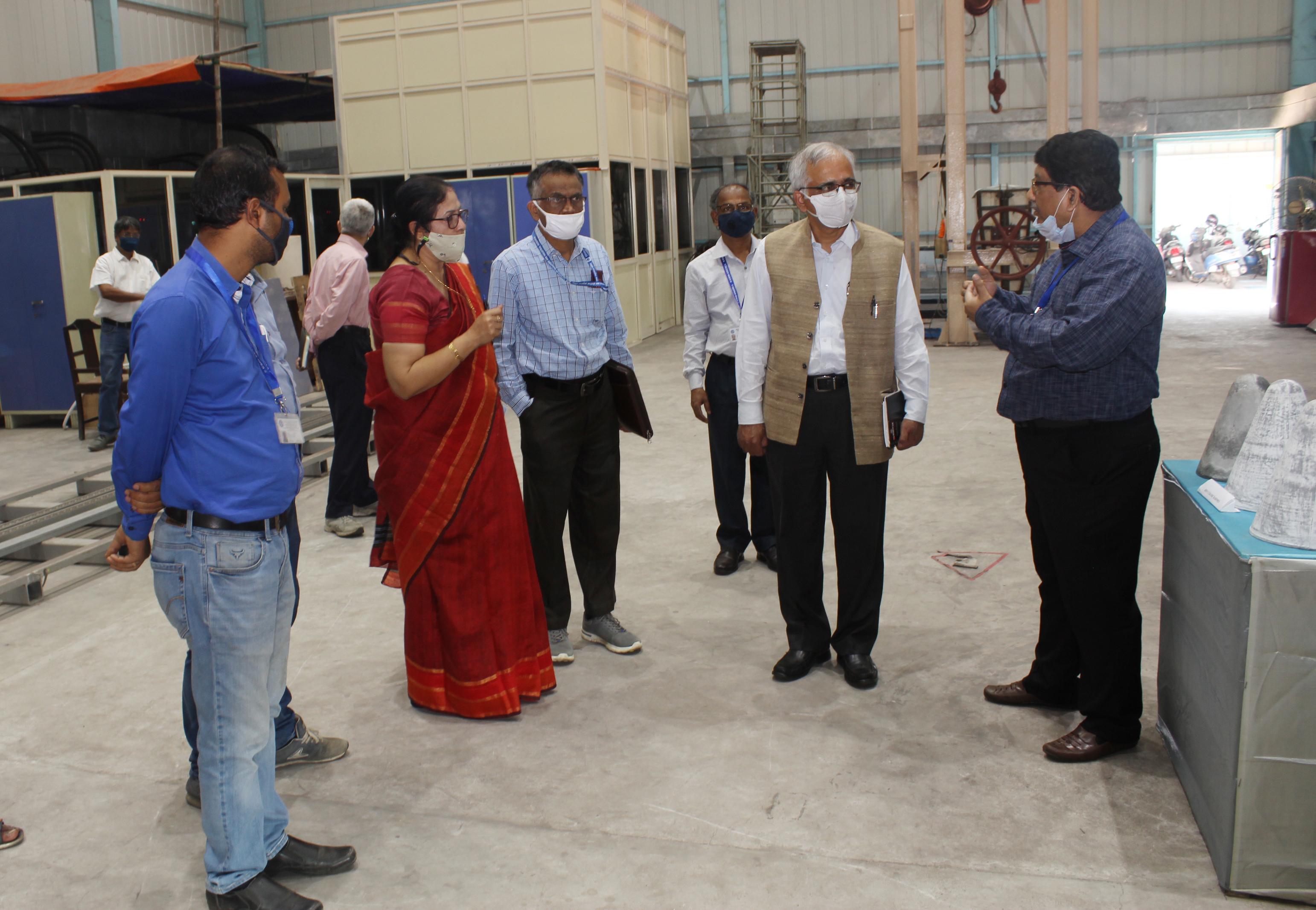 Lab visit of DG CSIR