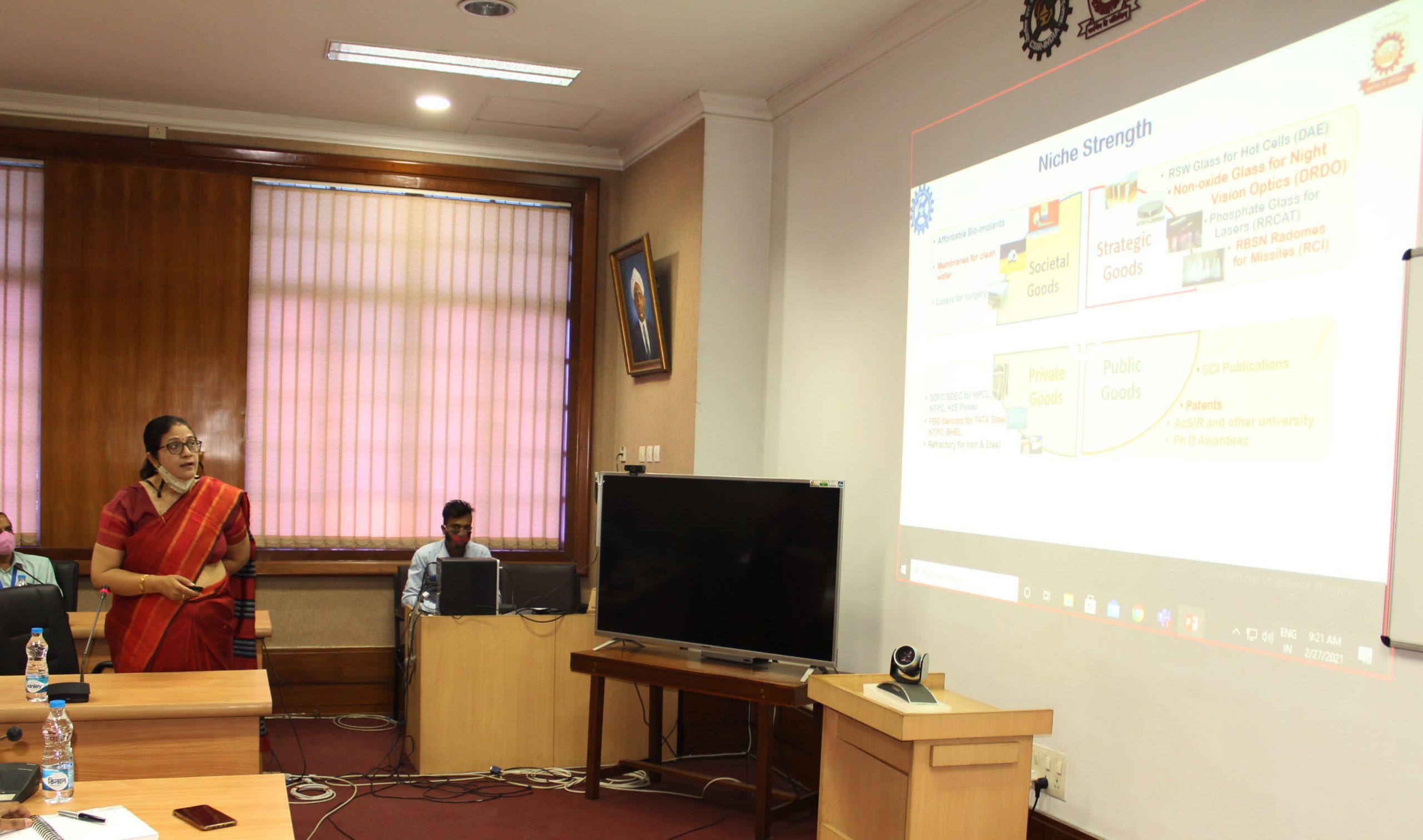 Director's presentation during DG CSIR's visit to CSIR-CGCRi, Kolkata