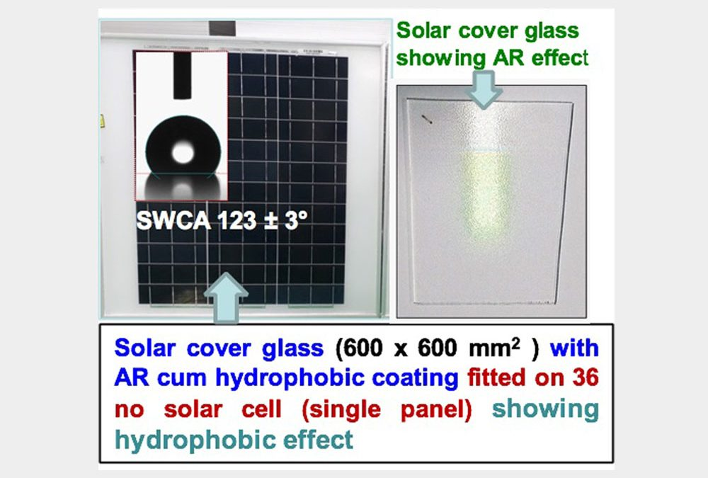 Mesoporous SiO2– based Anti-Reflective (AR) coating on solar cell cover glasses