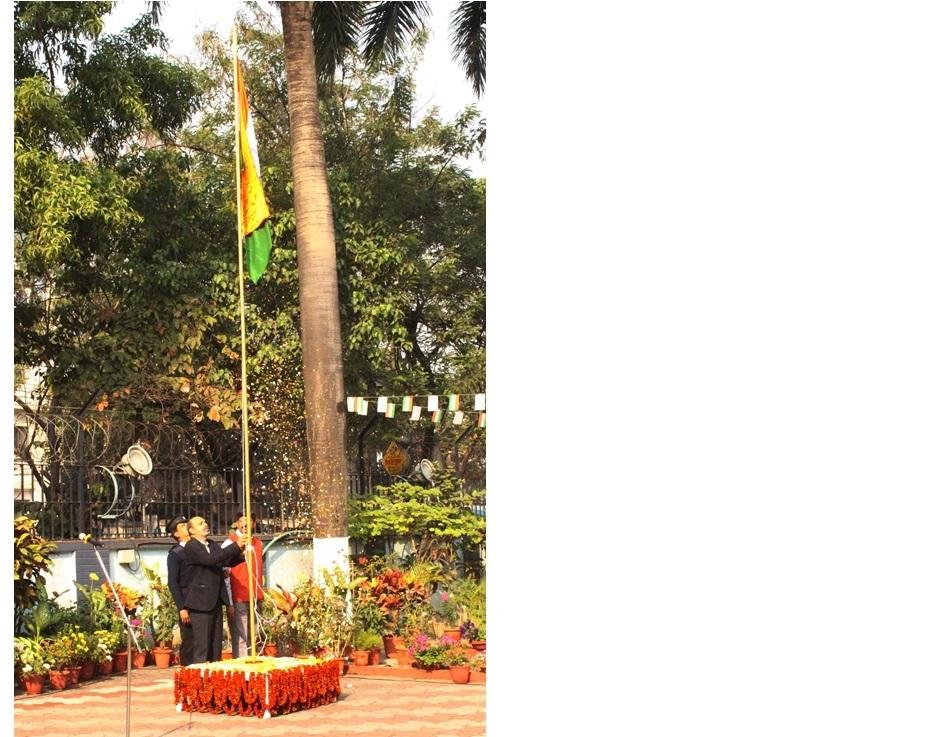 Flag hoisting by Director, CSIR-CGCRI on 71st Republic Day Celebration at CSIR-CGCRI, Kolkata