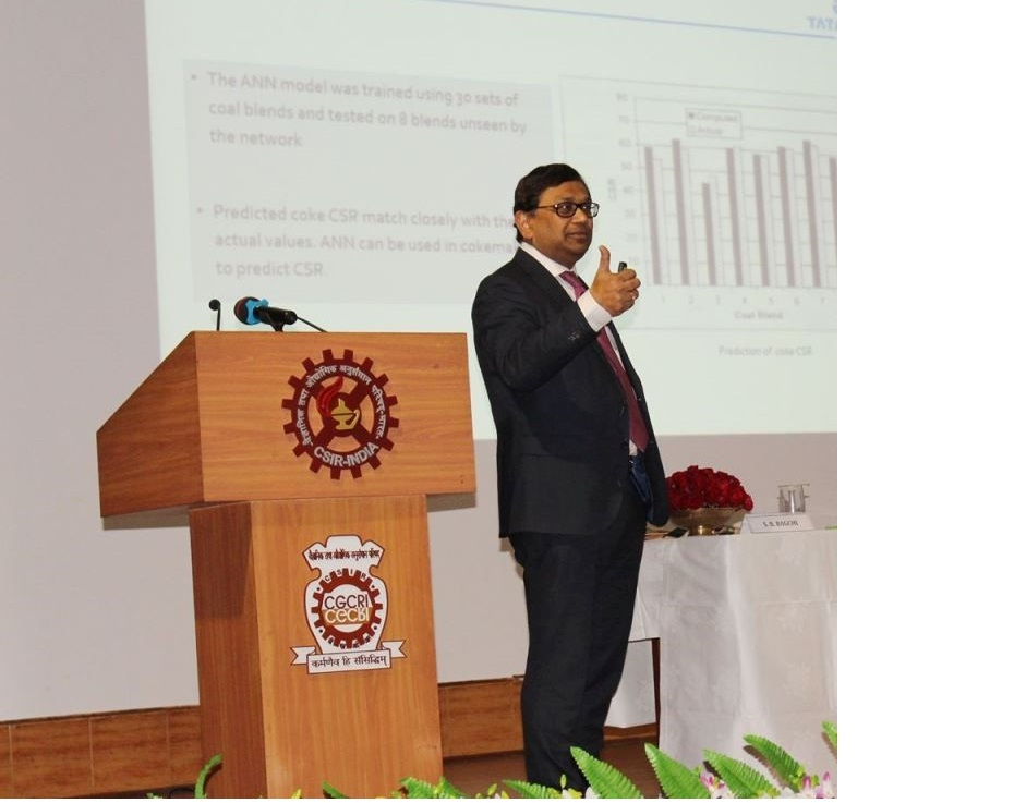 Shri Debashis Bhattacharjee, Vice President, TATA steel giving the Inaugural address at SMDTDS-2020