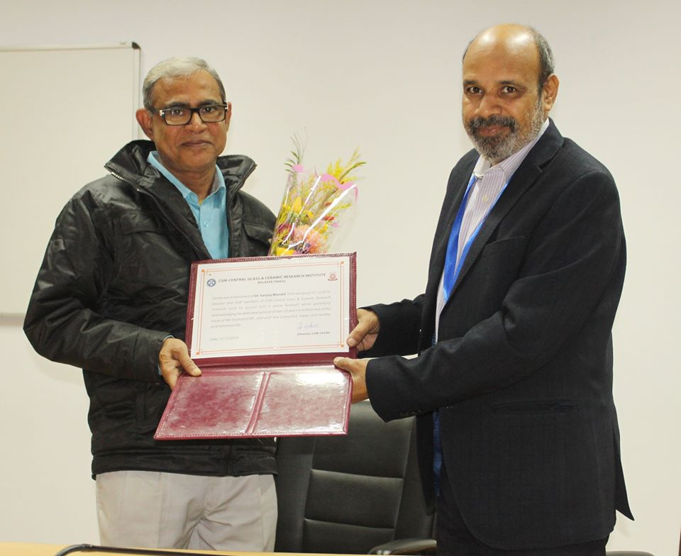 Superannuation of Dr. Sanjoy Mandal, Principal Technical Officer from Council Service