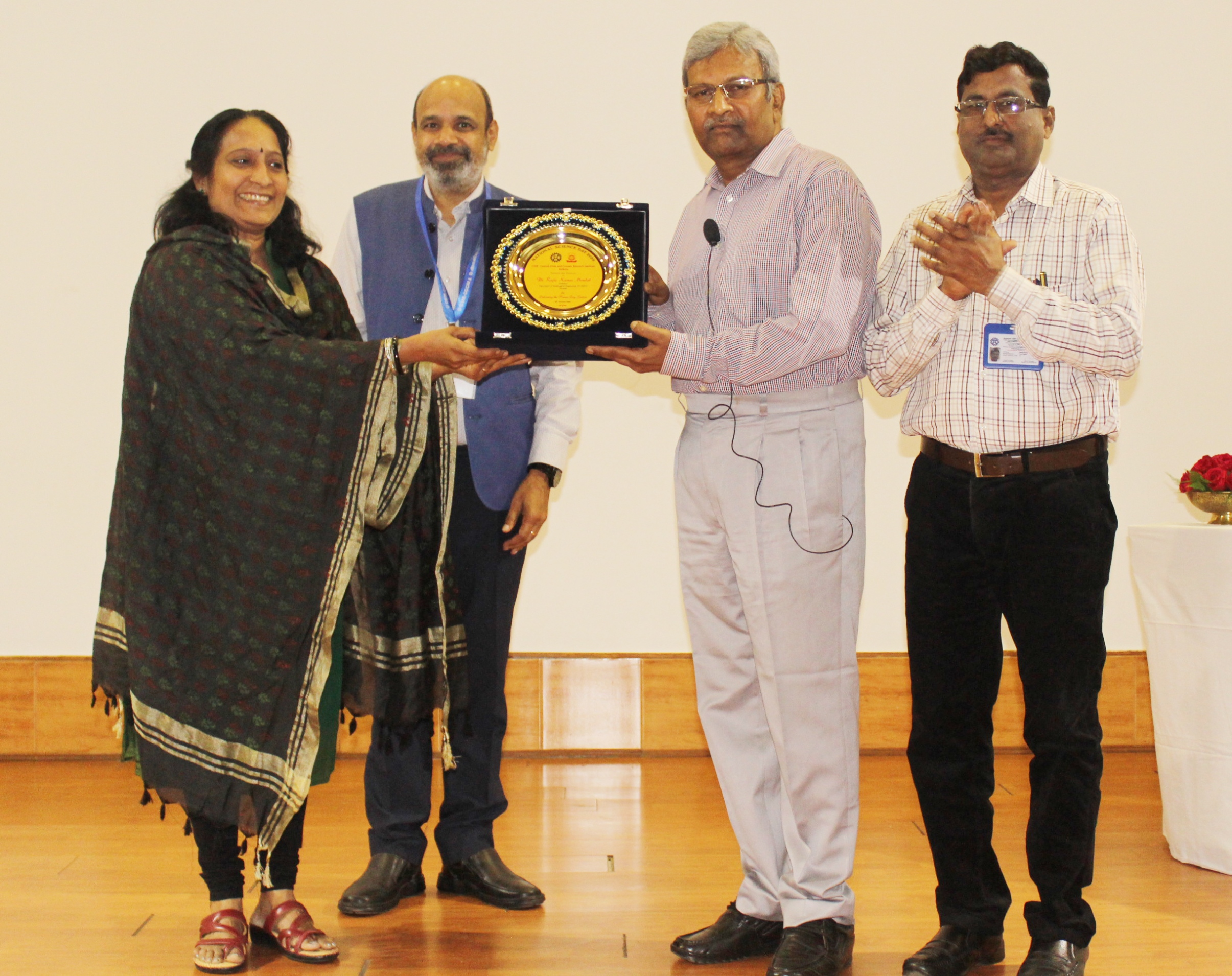 Presentation of memento to Prof. R. K. Mandal