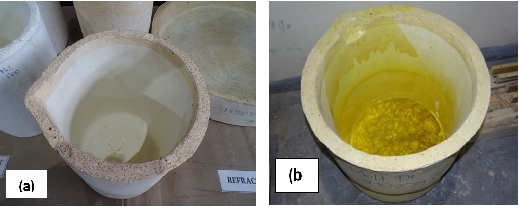 Up-scaling of refractory crucible for glass melting