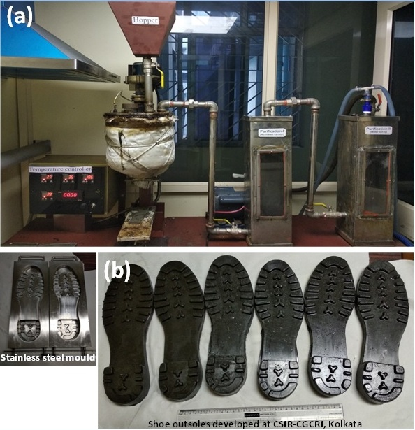 Development of light weight and anticorrosive material for shoe outsoles